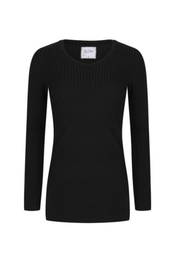 By Veer V-Neck Sweater Black Front
