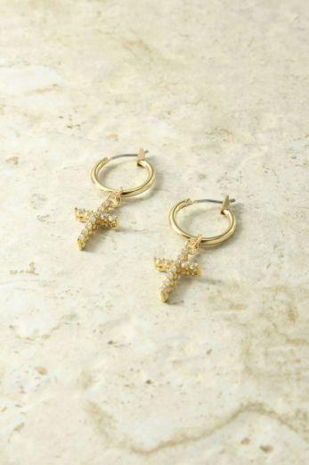 The Saint Rita Cross Earrings