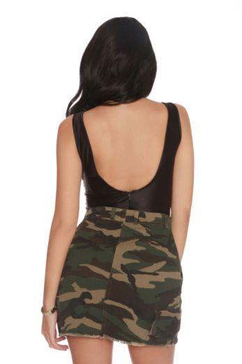 LA Sisters - Mini Camouflage Skirt