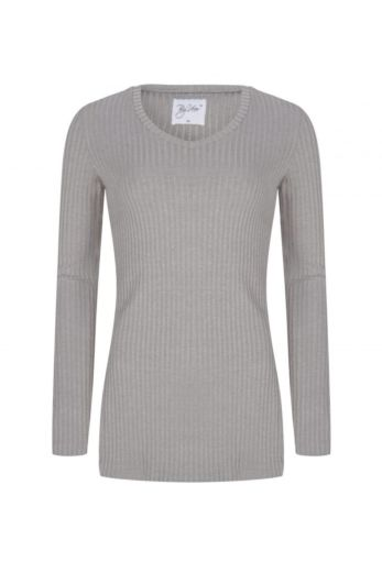 V-Neck Sweater Light Grey Front