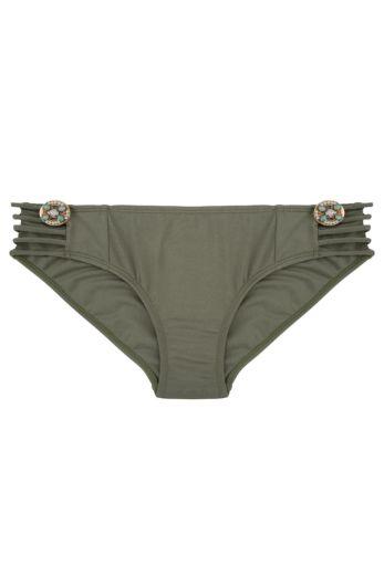 Boho Bikini Bottom Fancy Olive