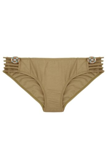 Boho Bikini Bottom Fancy Bronze