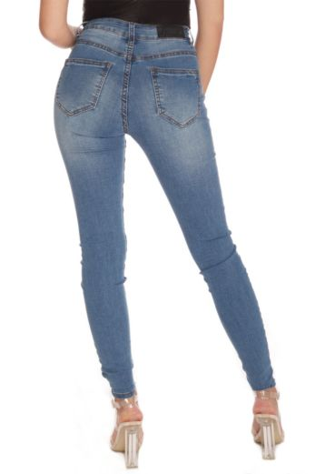 High Waisted Jeans Blue