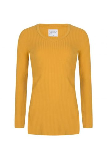 By Veer V-Neck Sweater Yellow Front