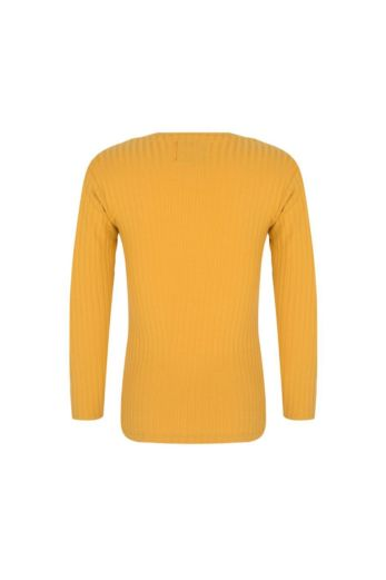 Kids V-Neck Sweater Yellow