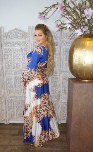 Florance Panther Dress Blue Long
