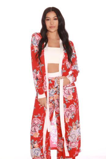 LA Sisters Flower Duster Jacket Front