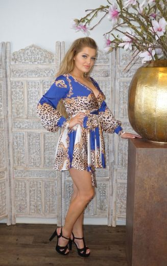 Florance Panther Dress Blue Short