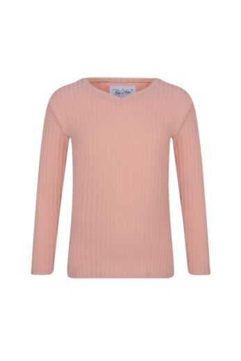 By Veer Kids V-Neck Sweater Powder Pink Front
