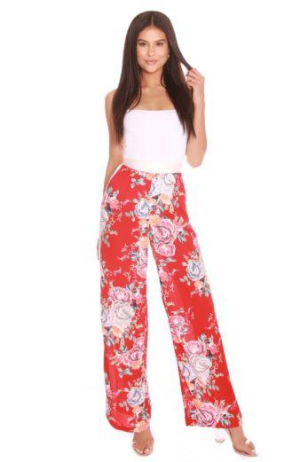 LA Sisters Flower Wide Leg Pants Front