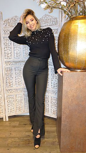 Cassandra High Waist Trousers Black