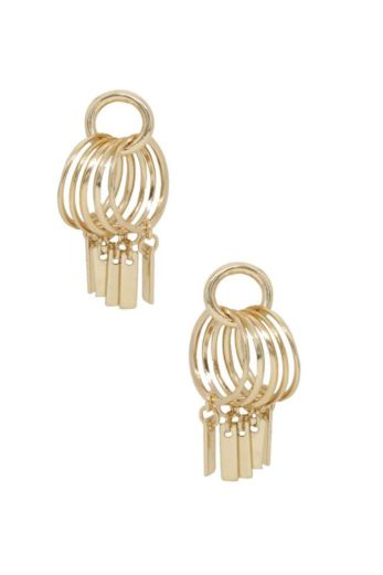 Ettika Best Of Best Bar Earrings Gold