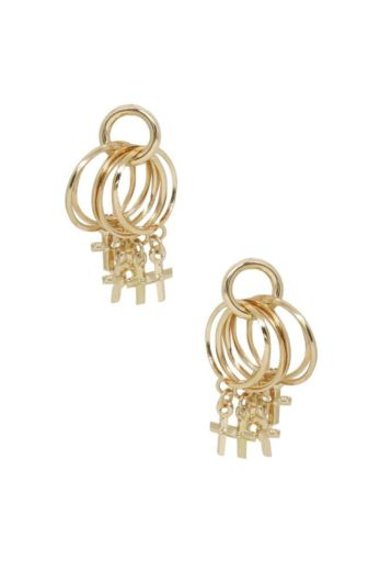 Ettika Best Of Best Cross Earrings Gold