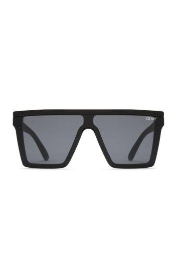 Quay Hindsight Black zwart Quay zonnebrillen Front