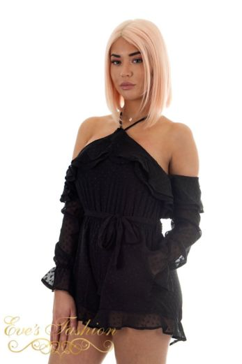 Lighthearted Playsuit Black