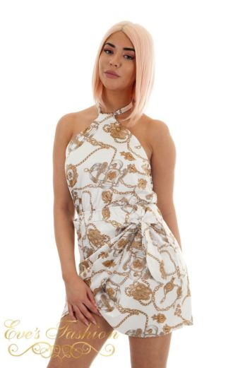 Chain Smoking Dress White