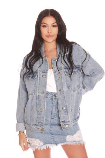 LA Sisters Oversized Denim Jacket