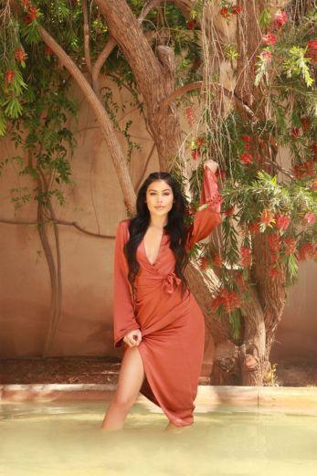 LA Sisters - Satin Kimono Maxi Dress