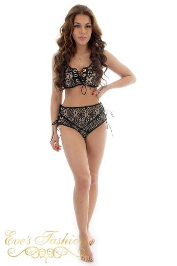 Eve Genevieve Bikini Black Front