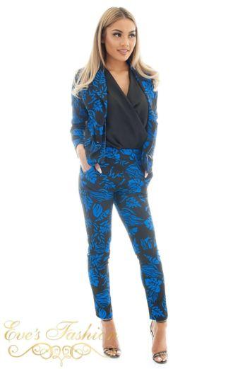 Hawai Flower Suit Blue side