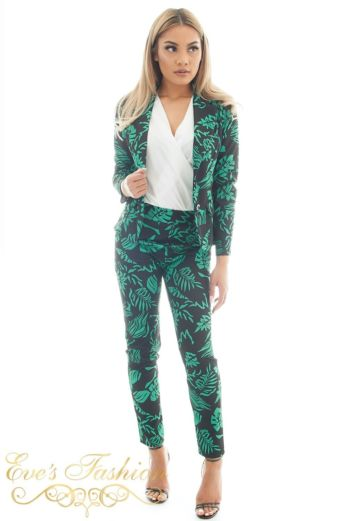 Hawai Hawai Flower Suit Green