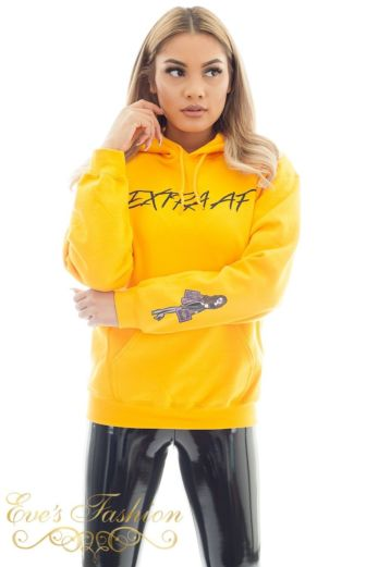 Eve Extra AF Hoodie Sweater Close