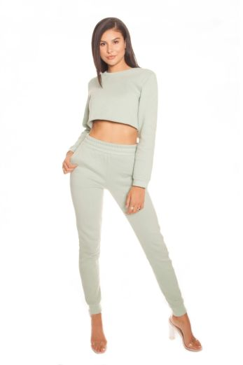 Cropped Joggingsuit Mint