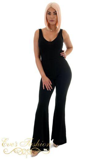 Laila Flair Jumpsuit Black