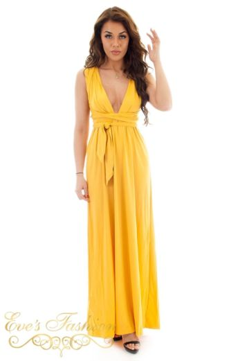 Eve Sahara Wrap Dress Oker