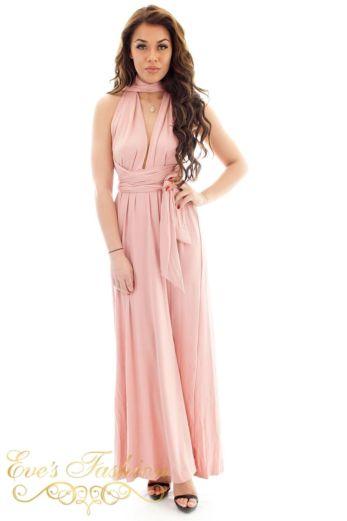 Eve Sahara Wrap Dress Pink Front