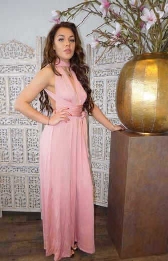 Sahara Wrap Dress Pink