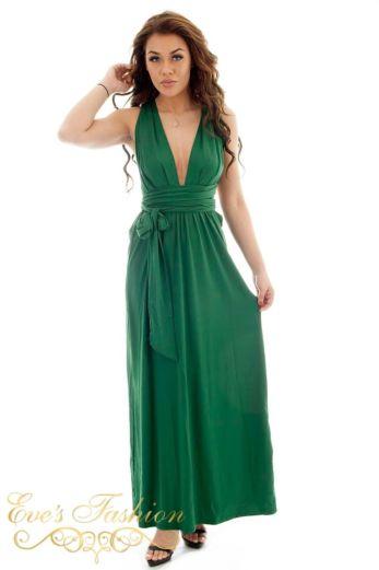 Eve Sahara Wrap Dress Green