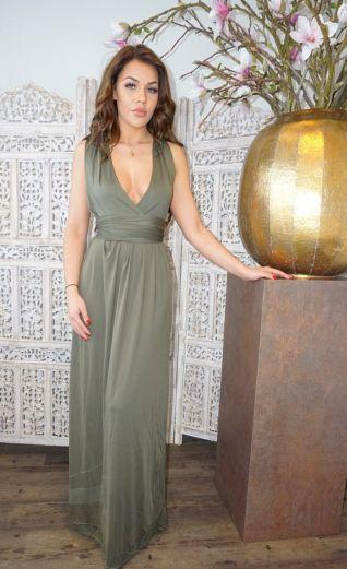 Sahara Wrap Dress Khaki