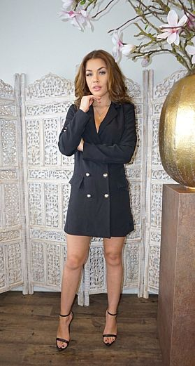 Belle Blazer Dress Black