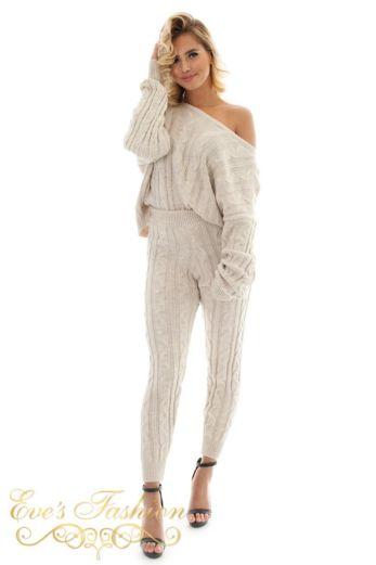 Bella Comfy Suit Creme
