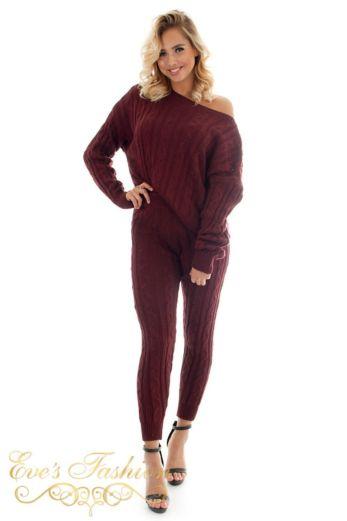 Bella Comfy Suit Burgundy