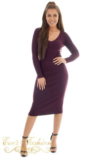 Comfy Doll Dress Burgundy