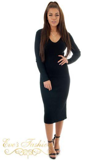 Comfy Doll Dress Black