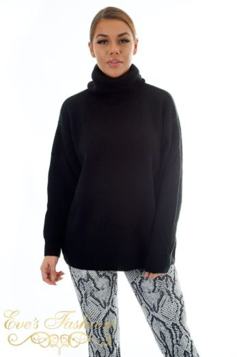 Amber Col Sweater Black
