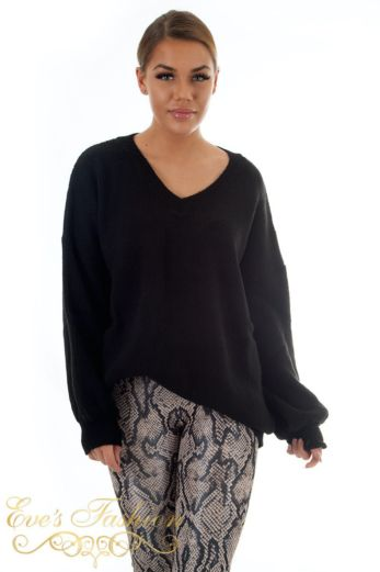 Ella V-Neck Sweater Black