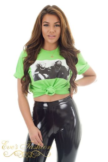 Eve Iconic Legends Tee Green Close Knot