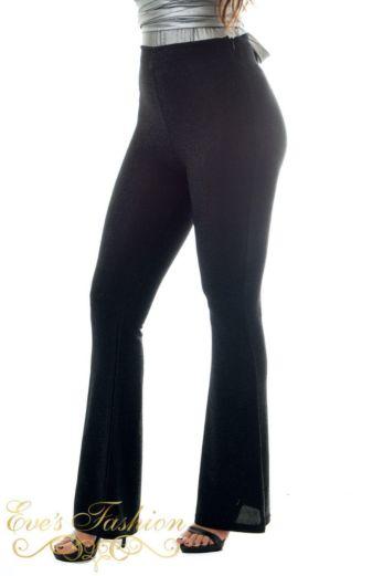 Glitter Flare Pants Black