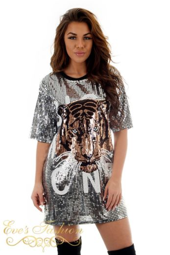 Tiger Sequin Dress