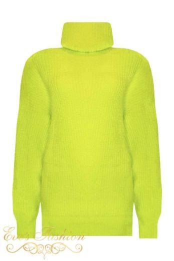 Amber Col Sweater Neon Yellow