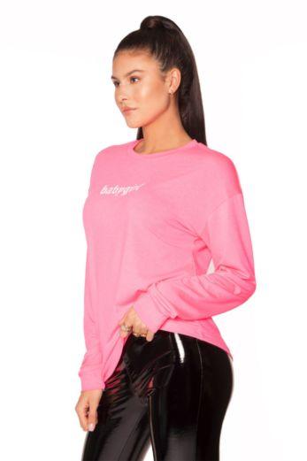 Long Sleeve Babygirl Tee Pink