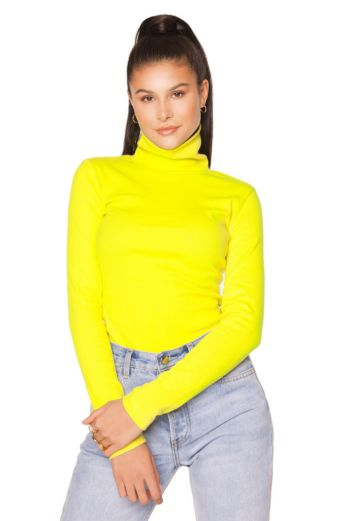 LA Sisters Neon Turtle Neck Top Pink