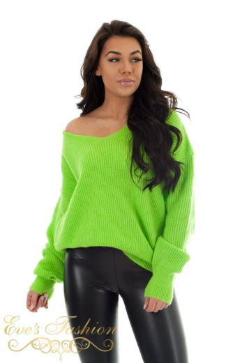 Eve V Sweater Black Close