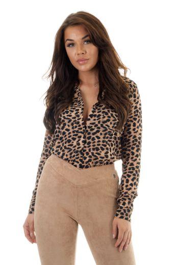 Hanadi Leopard Blouse