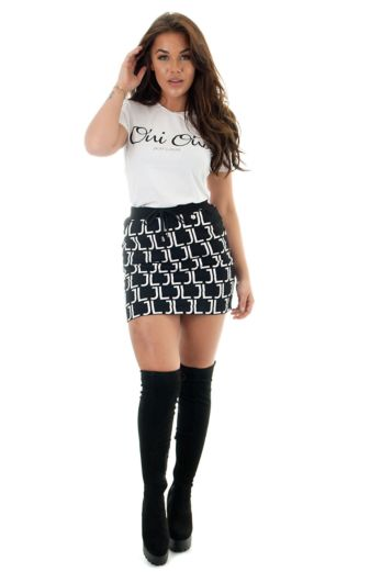 Jacky Luxury JL Logo Skirt Front