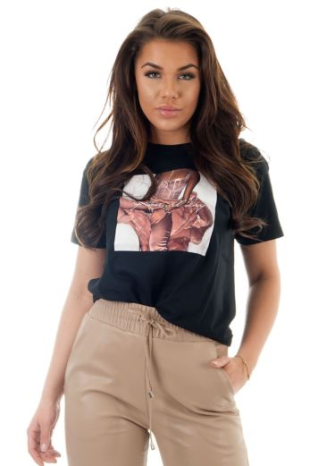 Rose All Day Tee Black